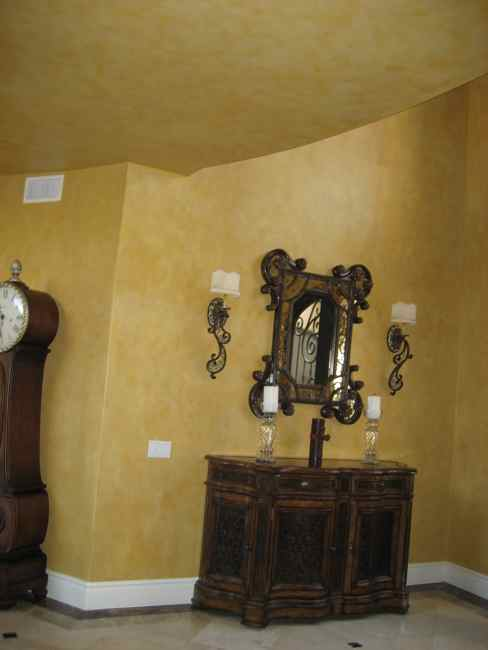 Tuscan paint ideas for the hallway on pinterest tuscan Faux finishes for kitchen walls